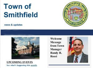 Town of Smithfield e-newsletter