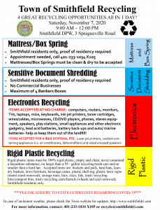 Four Recycling Events on Saturday, November 7th