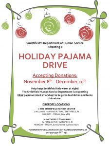 Department of Human Services Holiday Pajama Drive